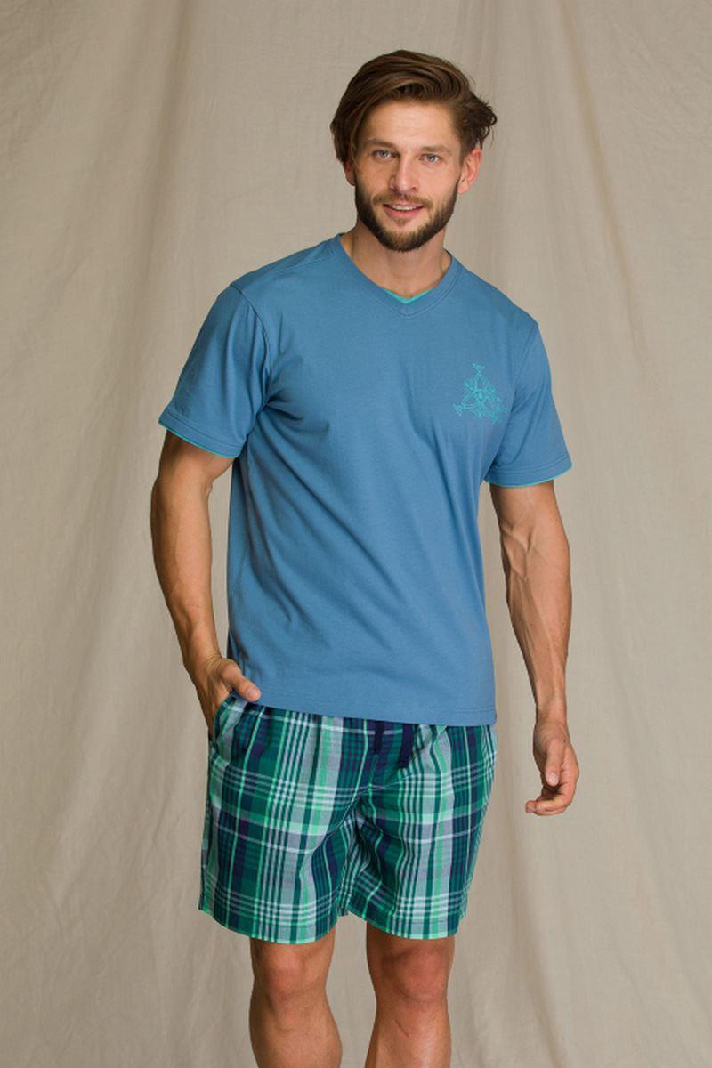Пижама мужская с шортами KEY MNS 714 A21