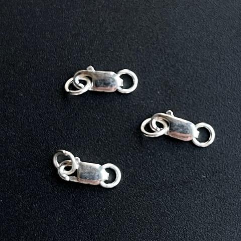 Замочек карабин 8 мм серебро 925 1 шт
