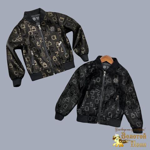 Куртка эко-кожа мальчику (4-13) 210727-К8801