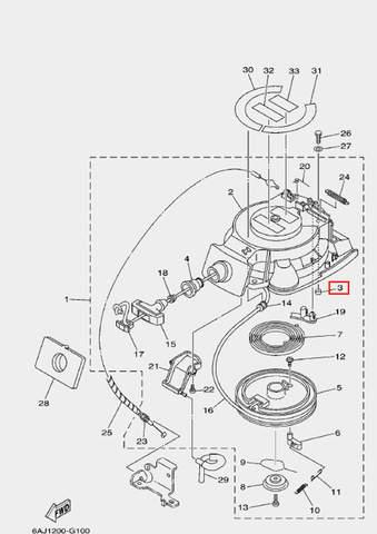 Втулка для лодочного мотора F20 Sea-PRO (10-3)