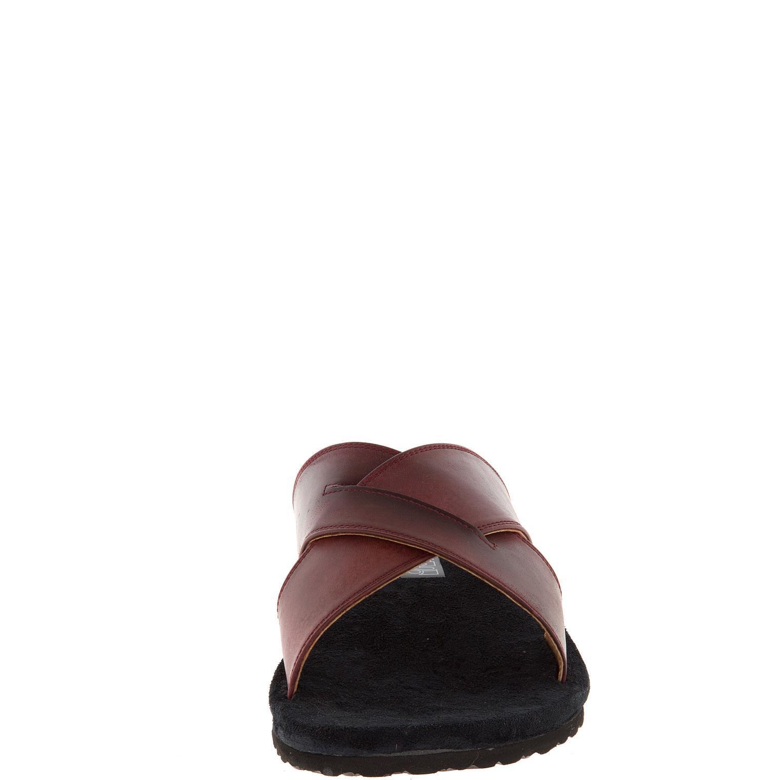 577157 сабо мужские бордо больших размеров марки Делфино