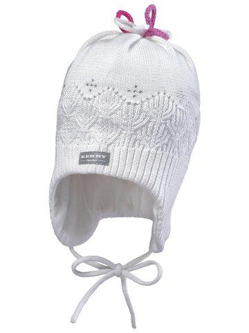 Kerry (Керри) Danni2 шапка демисезонная на завязках для девочки