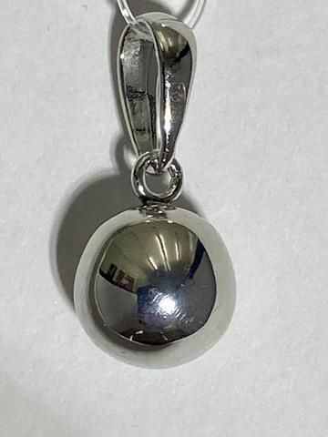 Шарик 0,9  (кулон из серебра)