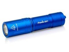 Фонарь Fenix E01 V2.0 (синий) 100lm