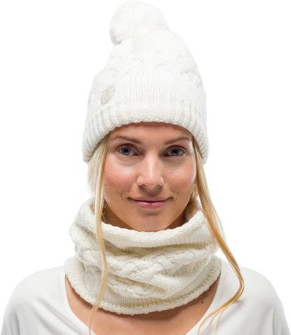 Комплект шапка шарф вязаный с флисом Buff Airon Cru фото 1