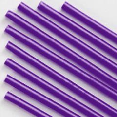 Трубочки полимерные для шаров, флагштоков и сахарной ваты Фиолетовые (100 шт), диаметр 5 мм, длина 370 мм