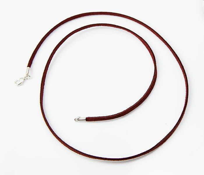 PL284-6 Кожаный (замшевый) шнурок для кулона