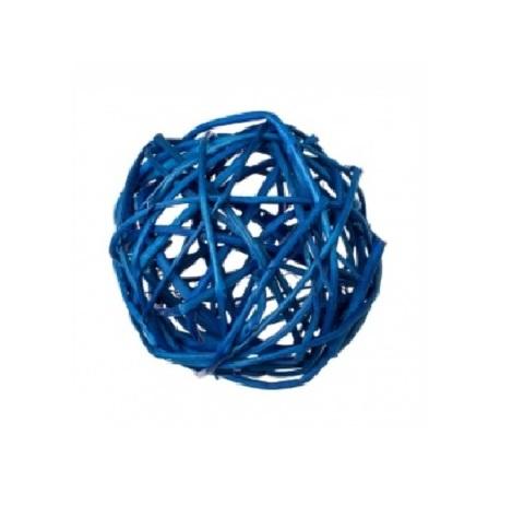 Плетеные шары из ротанга (набор:6 шт., d8см, цвет: синий)