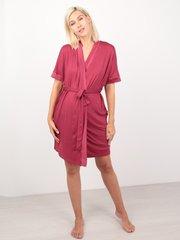 Euromama/Евромама. Комплект халат и сорочка вискоза с шелком, брусника вид 2