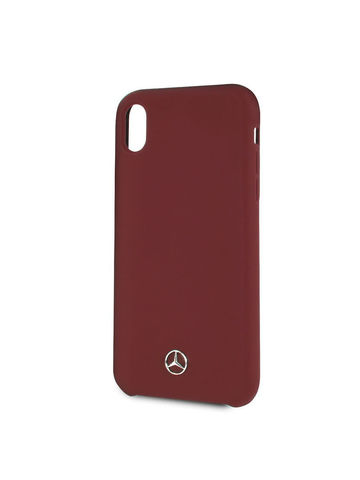 Mercedes / чехол для телефона iPhone XR | Silicone line Hard Red