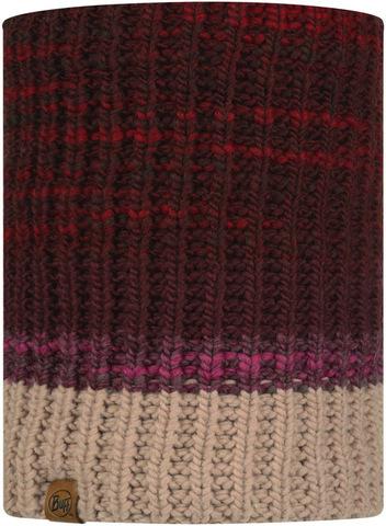 Вязаный шарф-труба с флисом Buff Neckwarmer Knitted Polar Alina Maroon фото 2