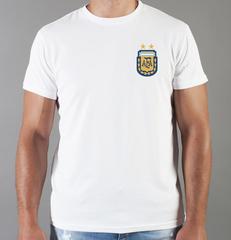 Футболка с принтом Лионель Месси (Lionel Messi) белая 0021
