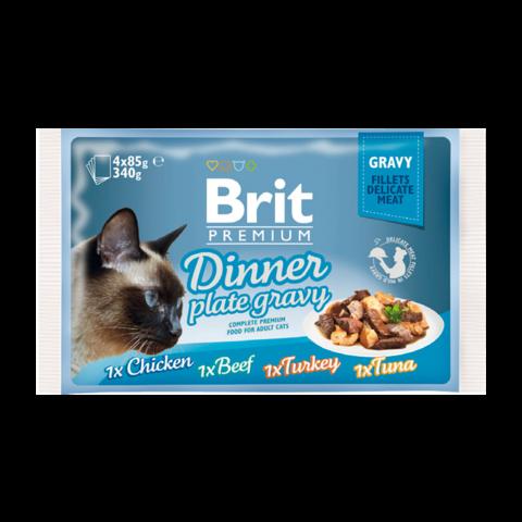 Brit Premium Cat Набор паучей для кошек кусочки в соусе