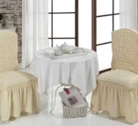 Чехлы на стулья (2 шт) цвет натуральный