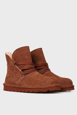 Женские рыжие замшевые ботинки ZORA Bearpaw