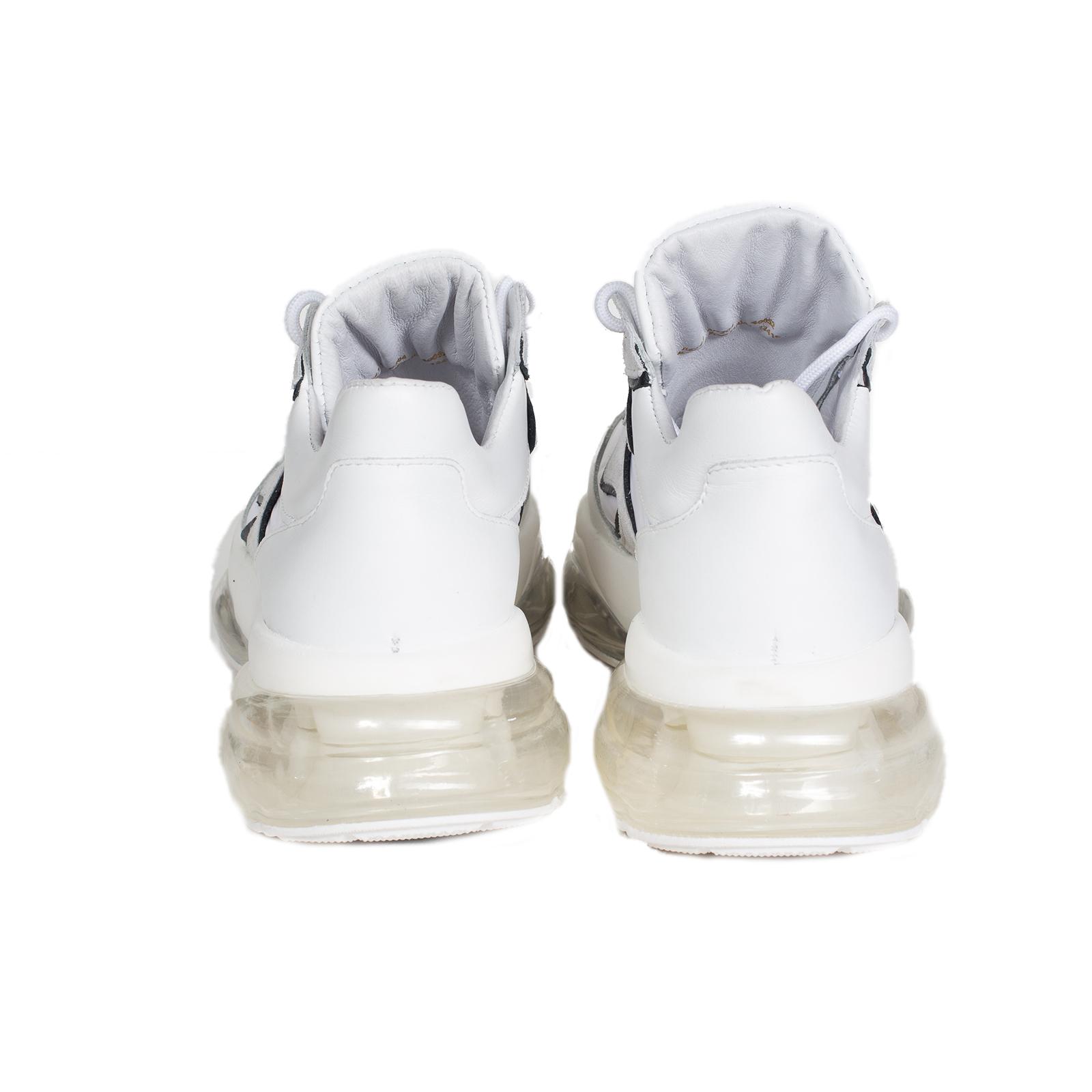 Кроссовки женские, BRONX, Bubbly (белый с черным)
