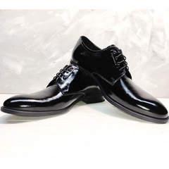 Лаковые туфли дерби Ikoc 2118-6 Patent Black Leather