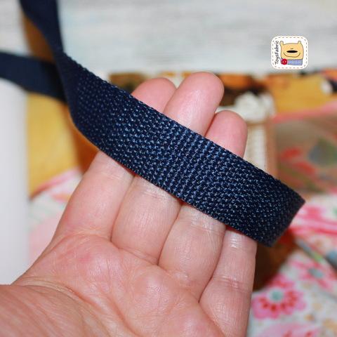 Ременная лента 20мм (темно синяя) ЛР20-С (1 ярд)