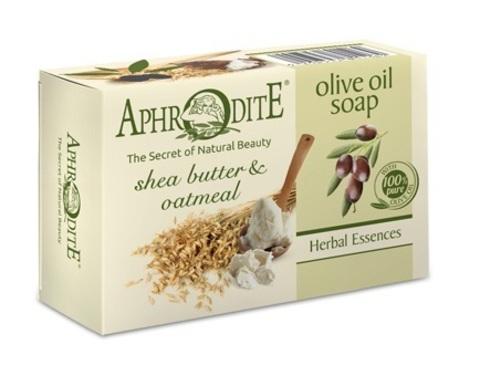 Мыло оливковое с маслом ши и овсяными хлопьями Aphrodite