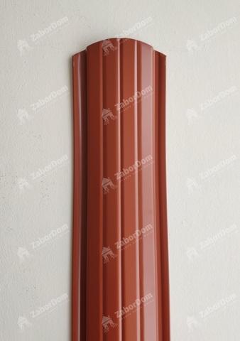 Евроштакетник металлический 110 мм RAL 8004 полукруглый 0.5 мм