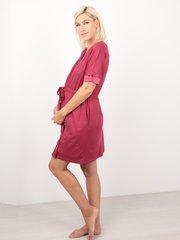 Euromama/Евромама. Комплект халат и сорочка вискоза с шелком, брусника вид 3