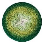 YarnArt Flowers 283 зеленый меланж