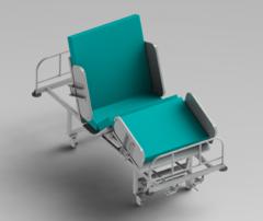 Функциональная медицинская  четырех-секционная кровать с механическим приводом