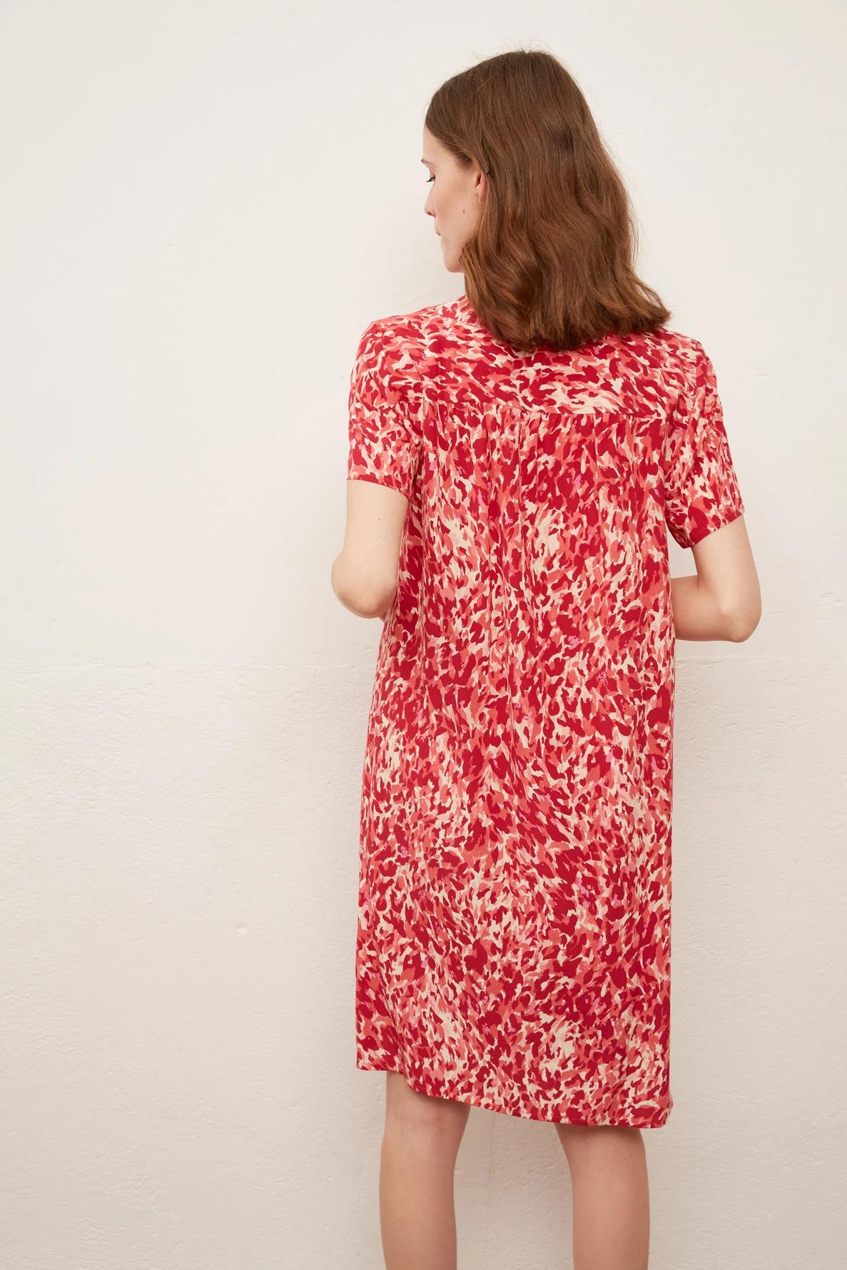 SIBILLA - Короткое шелковое платье с принтом
