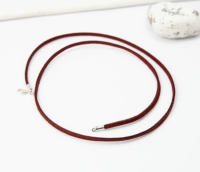 PL284-6 Кожаный (замшевый) шнурок для кулона фото 03