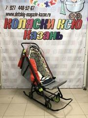 Санки коляска GALAXY KIDS 3-4 «красный»