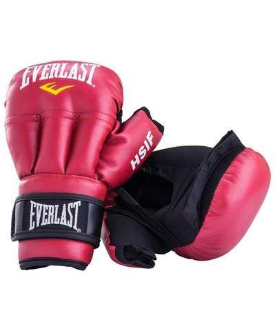 Перчатки для рукопашного боя Everlast HSIF RF3112L, 12oz, L, к/з, красный/Сфит (Everlast HSIF)