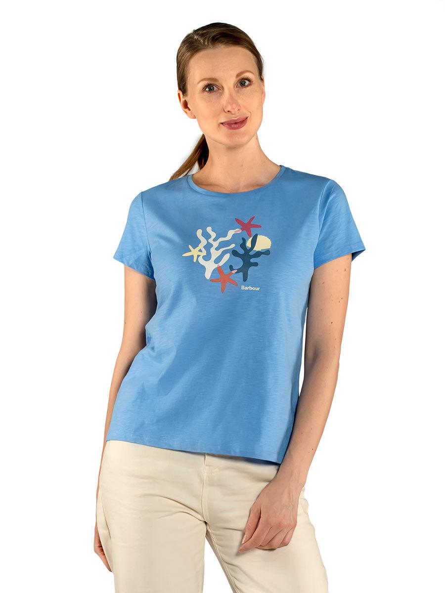 Barbour футболка Springtide Tee LTS0476/BL19