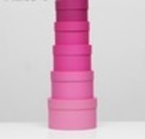 Коробка круглая розовая с крышкой, 16*16*11см