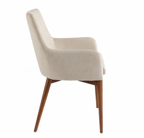 Кресло DC627-ARM кремовое