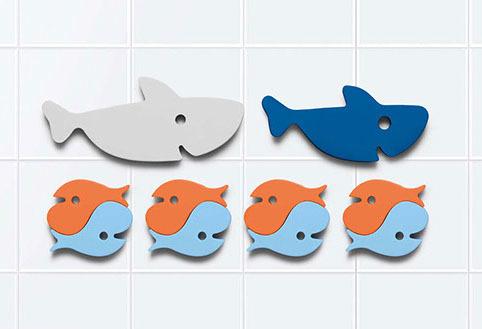 Мягкий 2D пазл для игры в ванне Quutopia. Акулы (Sharks), 10 эл.