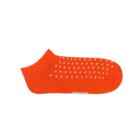 Носки оранжевые горох