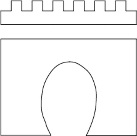 Портал однопутный - 155x137 мм, (H0)