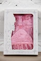 Наряд на крестины девочке Мари розовый