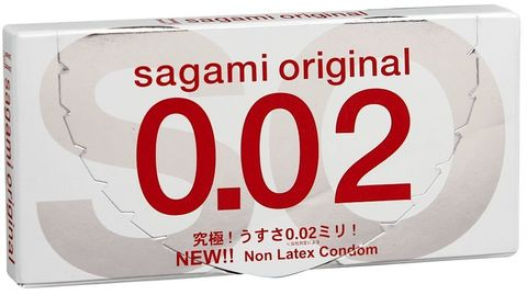 Ультратонкие презервативы Sagami Original - 2 шт. - Sagami Sagami Original Sagami Original 0.02 №2