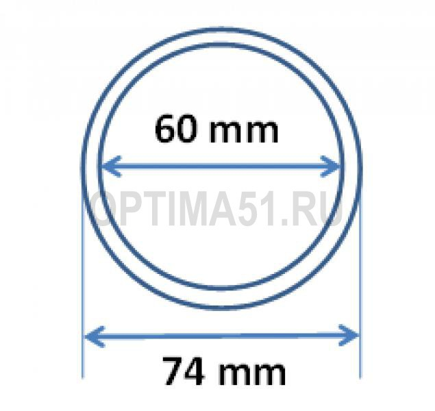 Капсулы для монеты 25 руб. серебро, стандарт ЦБ РФ, 60/74 мм
