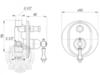 Смеситель встроенный с переключателем Migliore Bomond ML.BMD-9772 схема