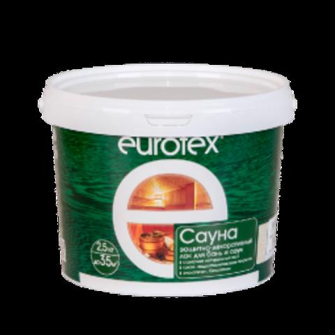 EUROTEX® Сауна Лак для стен, потолков и полов в банях и саунах