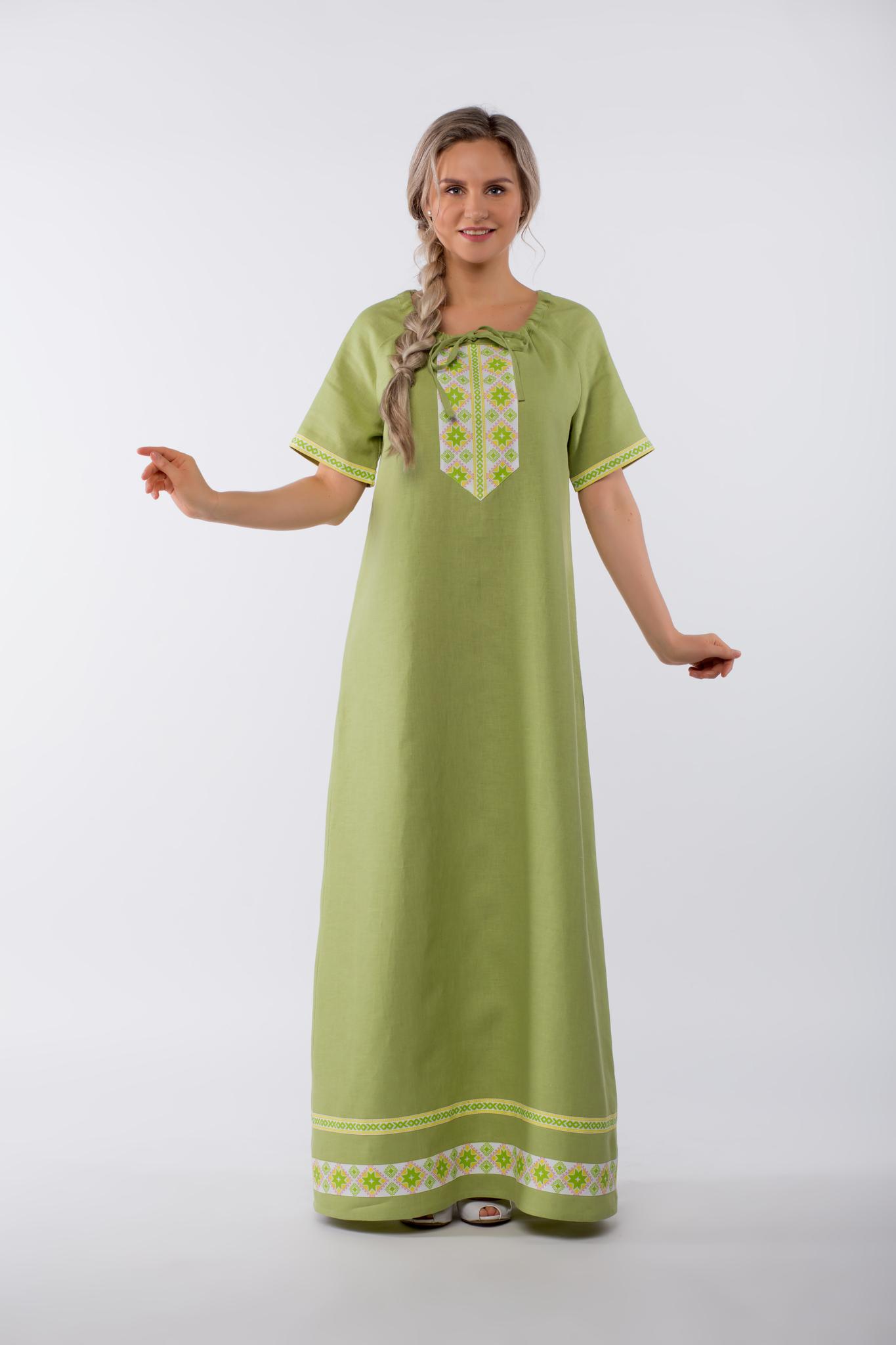 Платье льняное Папоротник