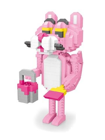 Конструктор Wisehawk & LNO Розовая пантера с лопаткой 432 детали NO. 2548 Pink Panther shovel Gift Series