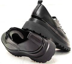 Кожаные туфли дерби женские Marani magli M-237-06-18 Black.