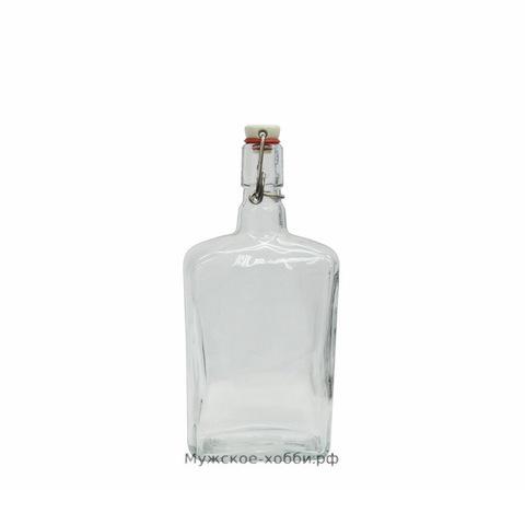 Бутылка с бугельной пробкой 0,75 л, прозрачная