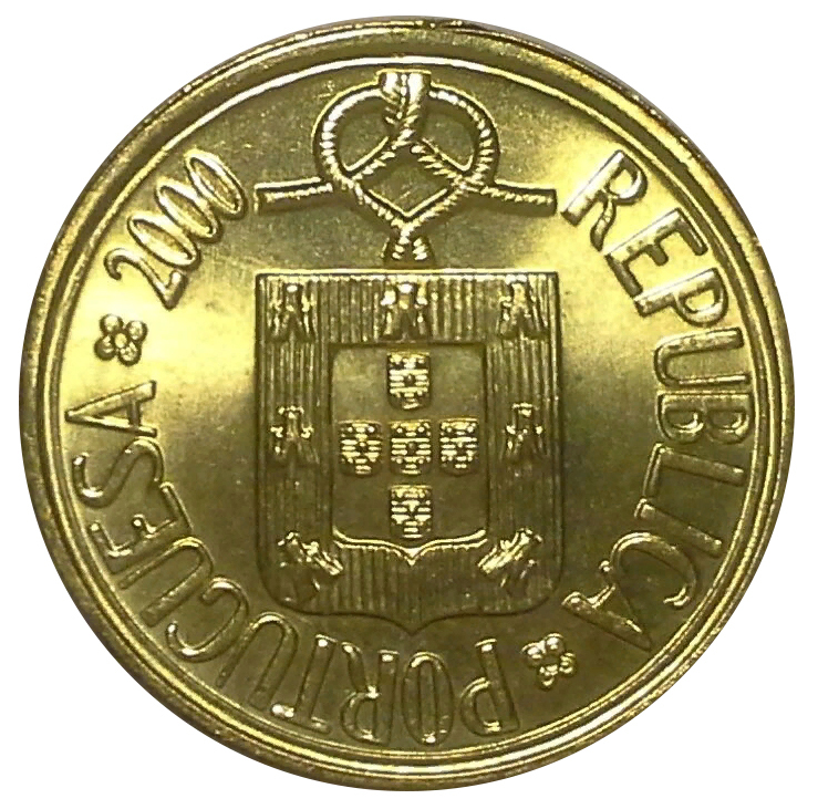 1 эскудо 2000 год, Португалия. aUNC