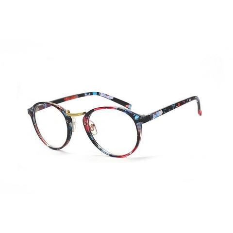 Имиджевые очки 2214001i Синий с цветочным узором