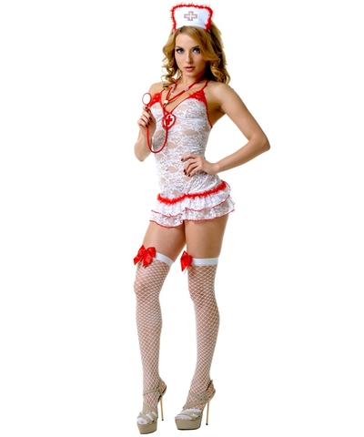 Кружевной костюм медсестры