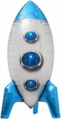 К Фигура, 3D Ракета, Синий, 32